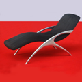 Custom Formed Contemporary Lounge Chair with a Molded Aluminium Supporting Structure