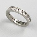 Platinum Eternity Ring Enclosing 26 Diamonds