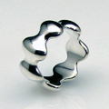 Seven Element Wave Form Sterling Silver Ring