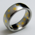 Stainless Steel with Yellow Gold Inlay Ring